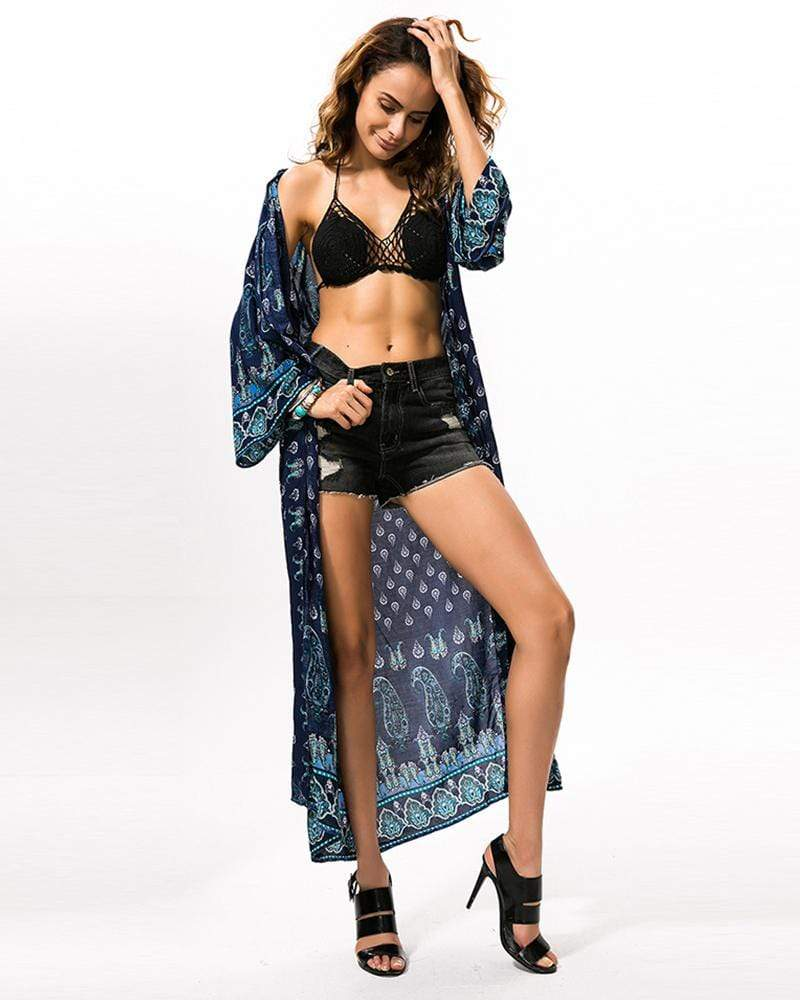 Bikini Bohemia Cover Blouse Swimwear Cardigan