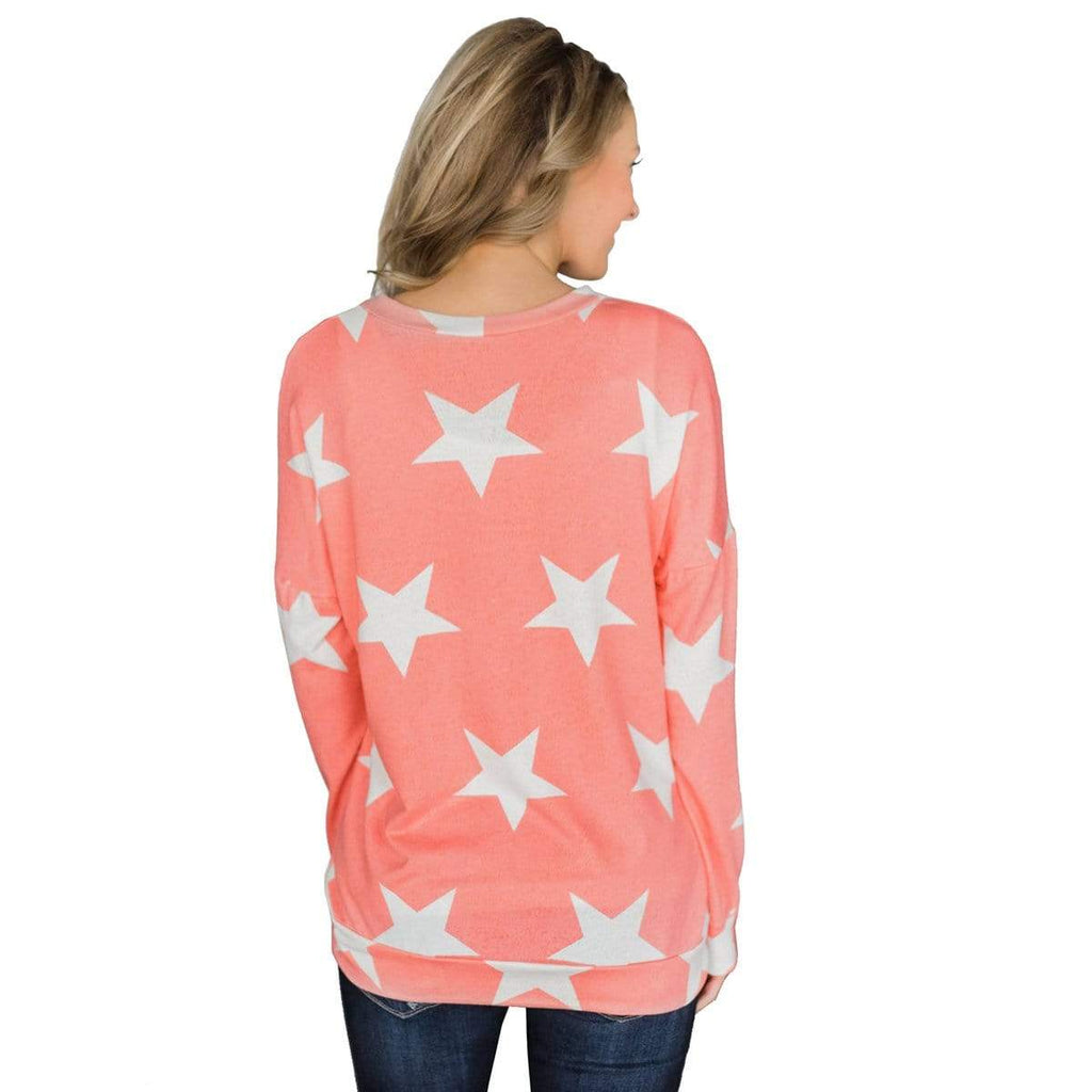 Exlura Women's Long Sleeve Star Print - Exlura