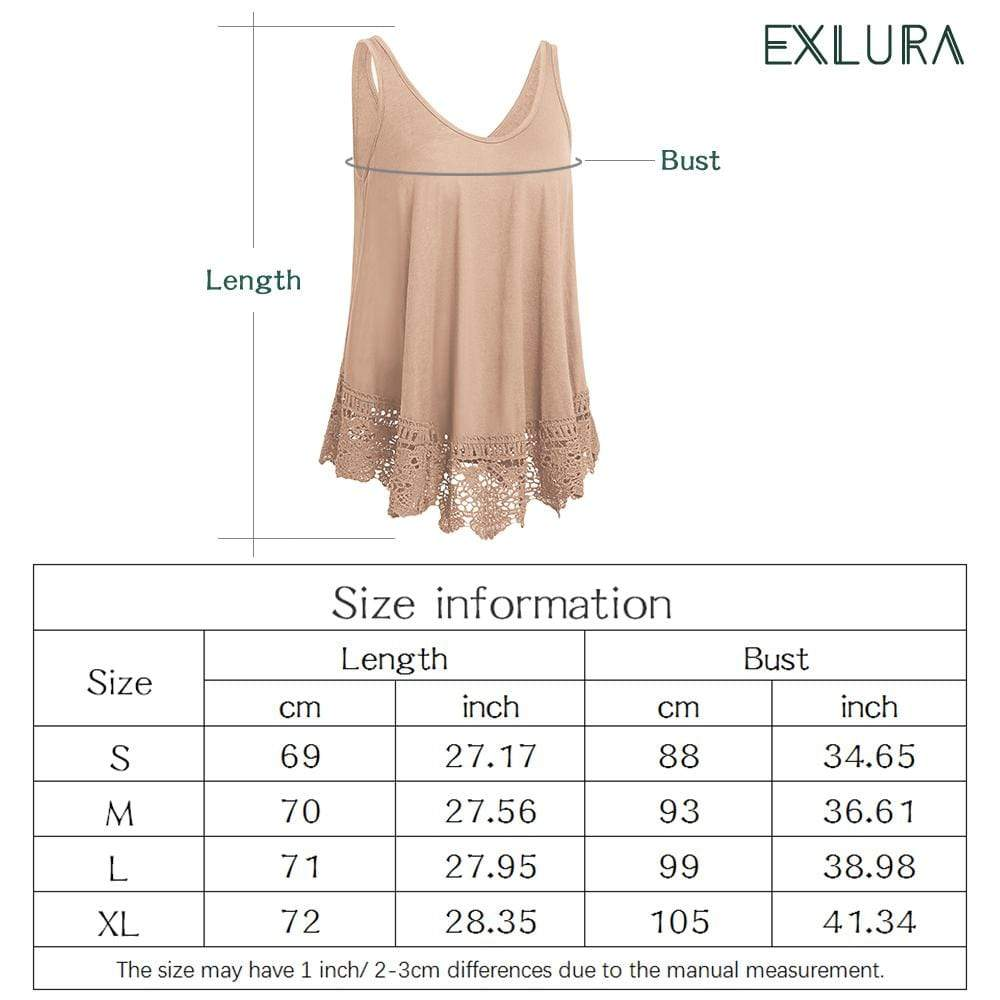 Sleeveless Swing  Tank Basic Summer Top - Exlura