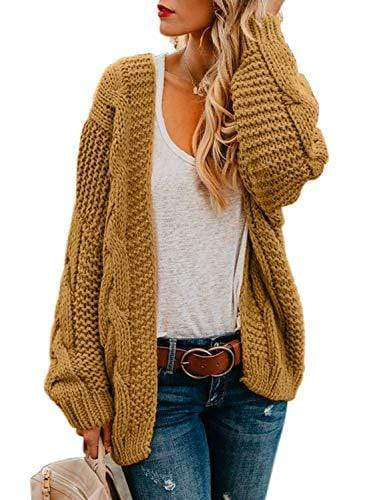 Exlura Knitting Ribbed Cardigan Sweater