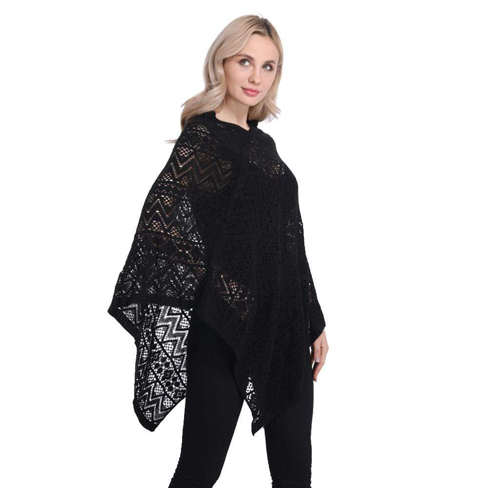 Hollow Out Poncho Sexy Bikini Cover Up - Exlura