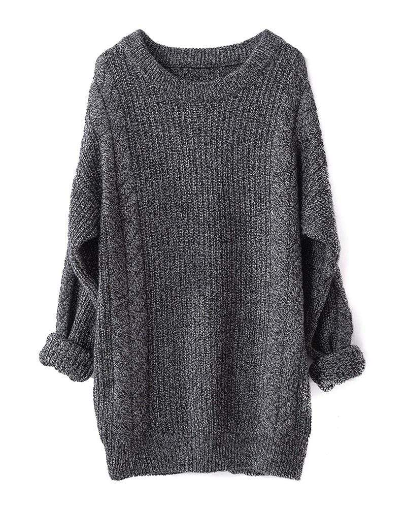 Exlura Cashmere Oversized Knitted Sweater Dresses