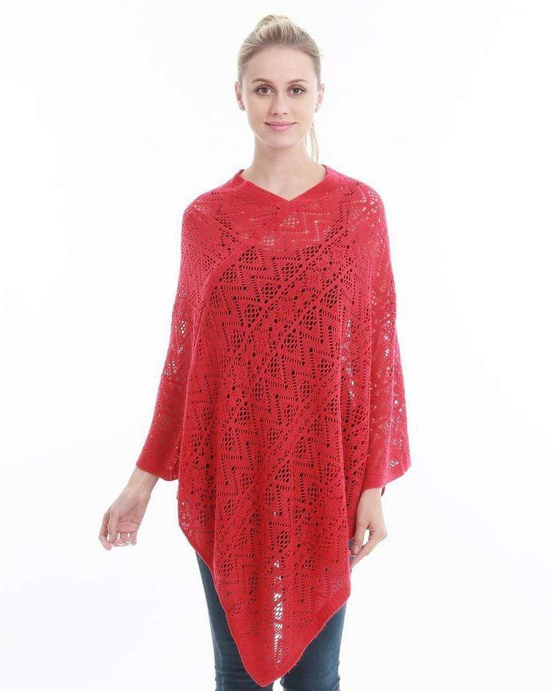 Hollow Out Poncho Sexy Bikini Cover Up