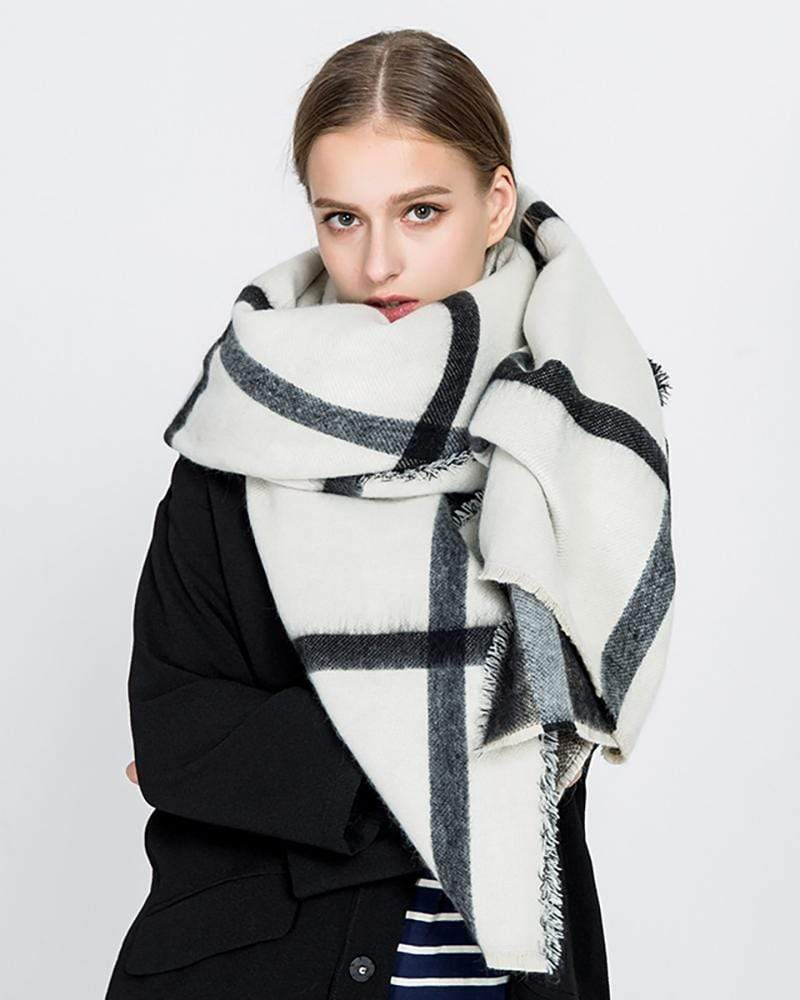 Geometric Faux Cashmere  Scarf