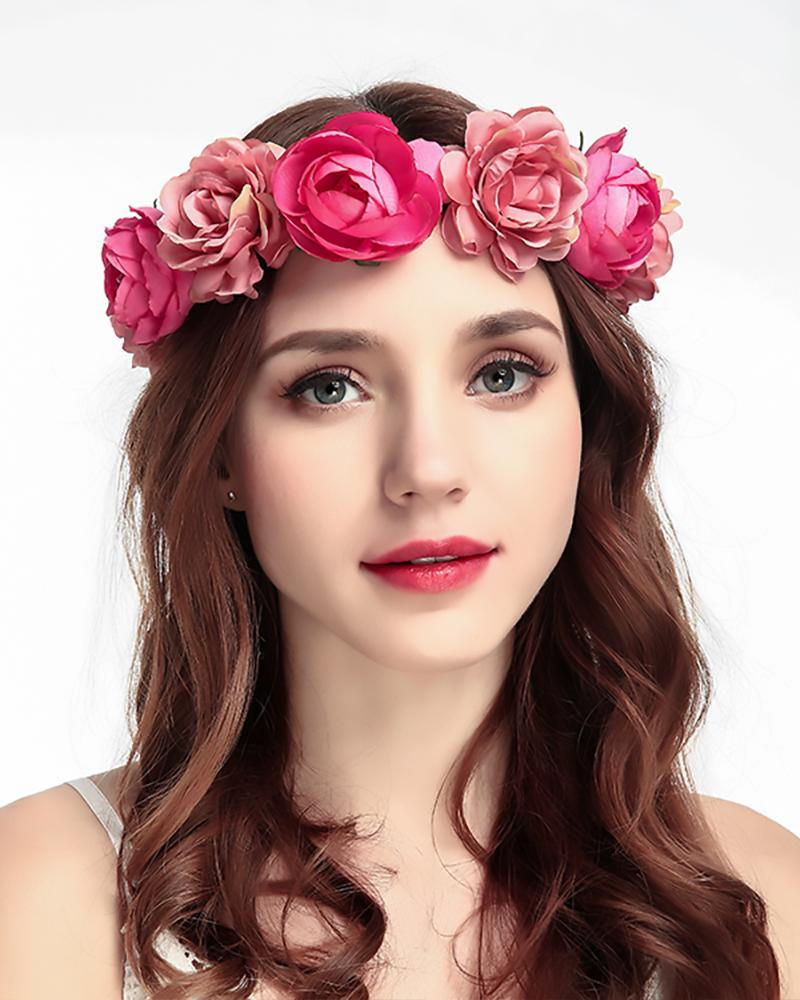 Rose Flower Beach  Party Handmade  Headdress
