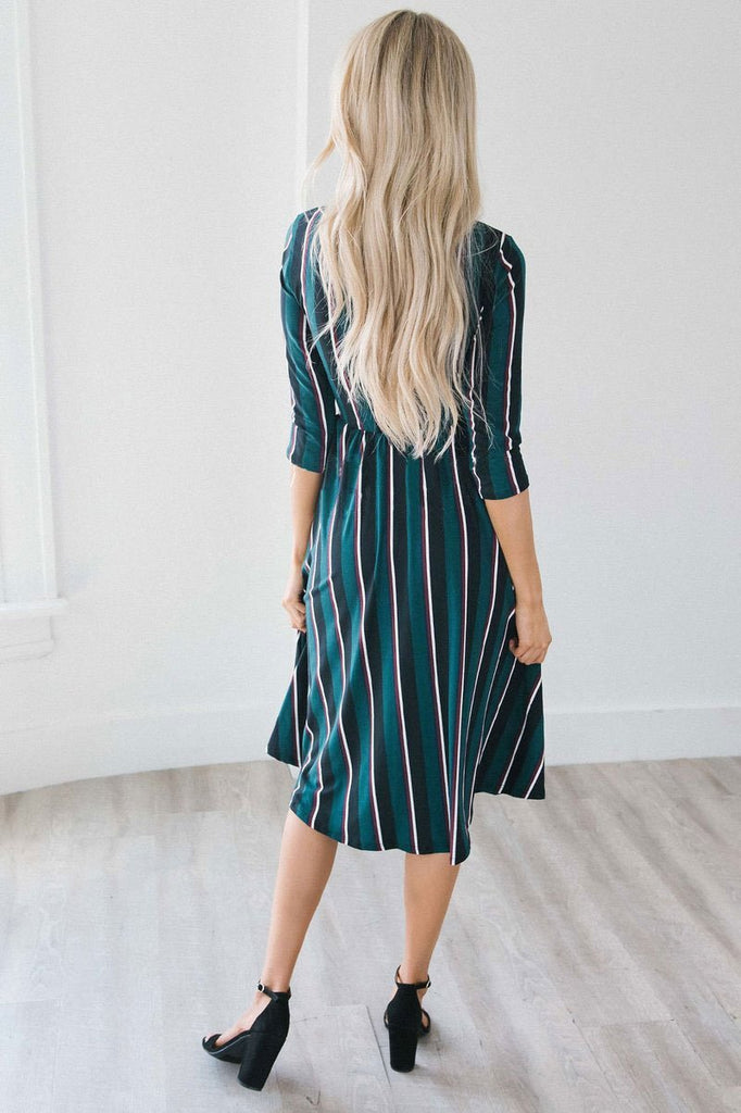 Autumn Loose Plain  Long Dress - Exlura