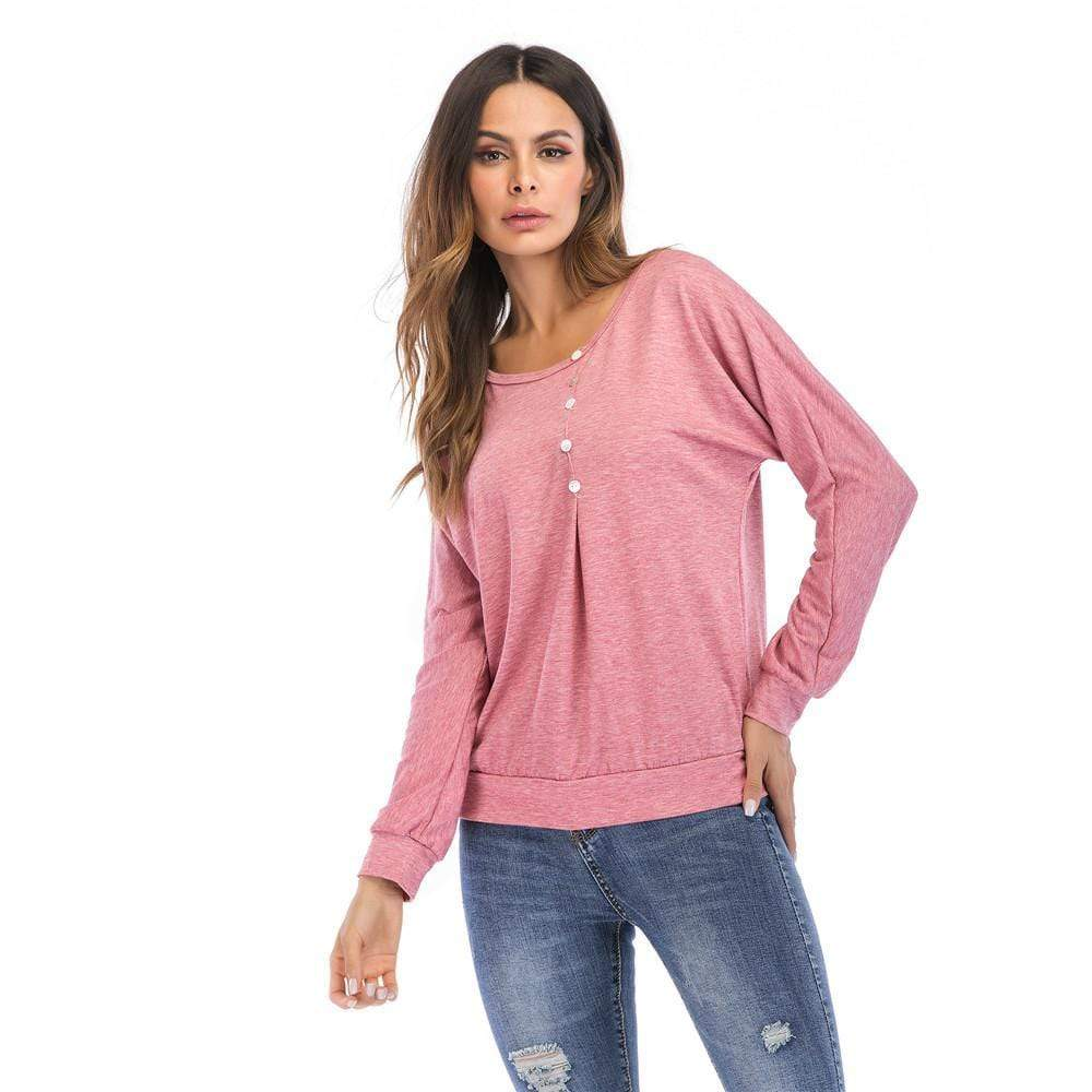 Women Button Blouse Tops - Exlura