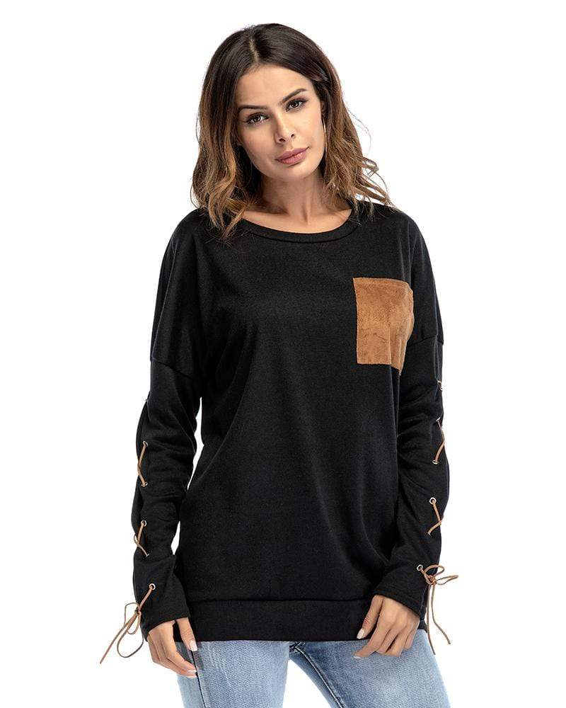 Cross Bandage Patch Casual Hoodie