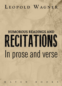HUMOROUS READINGS AND RECITATIONS