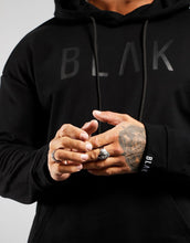 Load image into Gallery viewer, HOODIE | BLACK PRINT - BLAK APPAREL