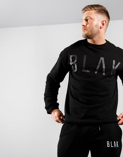 SWEATER | BLACK PRINT - BLAK APPAREL
