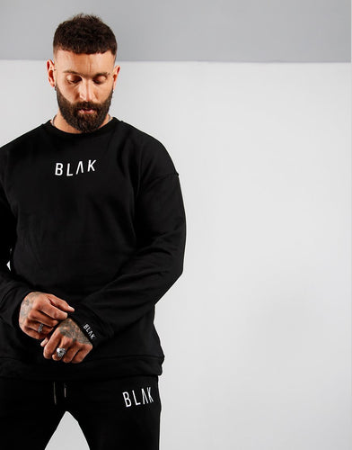 SWEATER | WHITE PRINT - BLAK APPAREL