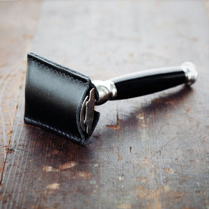 Leather Safety Razor Cover
