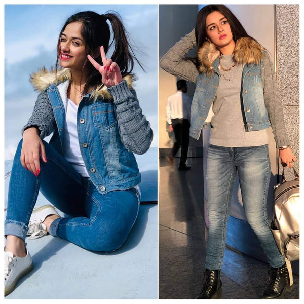 Corea Denim Jacket - Flat 50% Off - Alamode By Akanksha