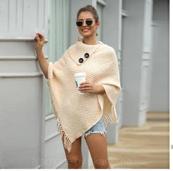Pegmove Tasseled Cape Sweaters - Alamode By Akanksha