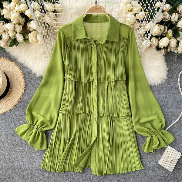 Loila Pleated Blouse