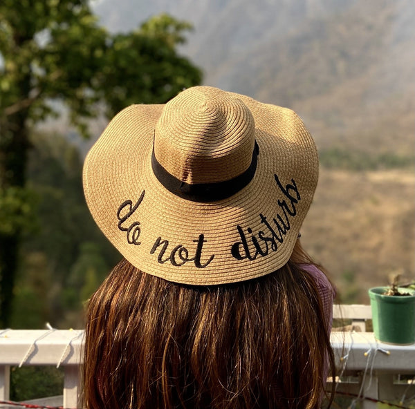 Do Not Disturb Straw Hat - Brown