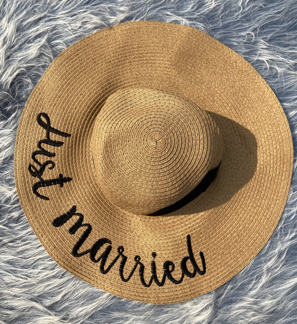 Just Married Straw Hat - Beige