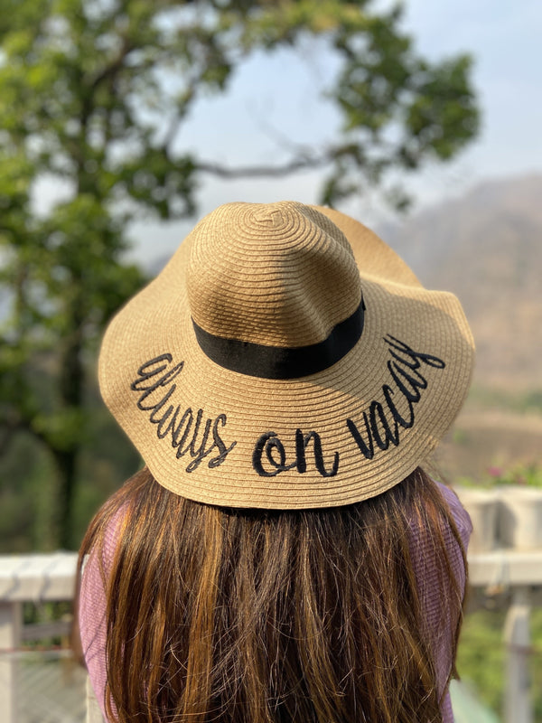 Always on Vacay Straw Hat