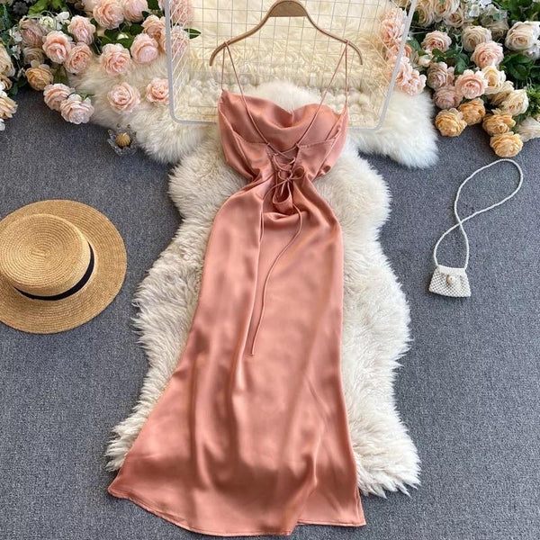 Clara Luxury Satin Dress