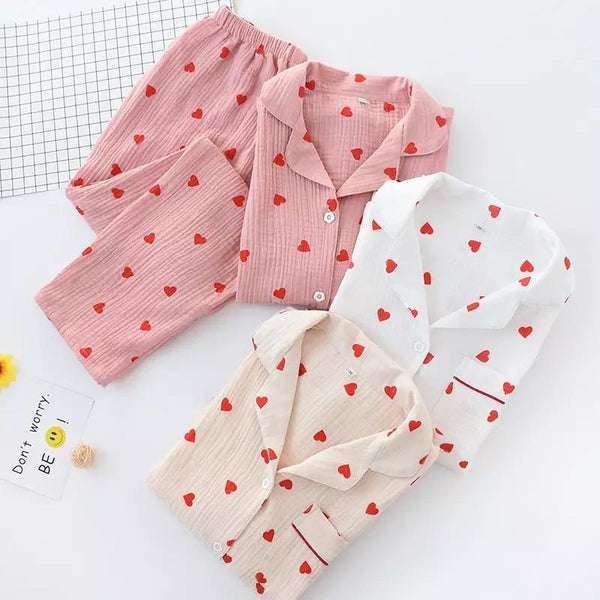 Carrot and Heart Cotton Nightsets - Alamode By Akanksha
