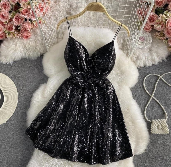 Serena Sequined Skater Dress