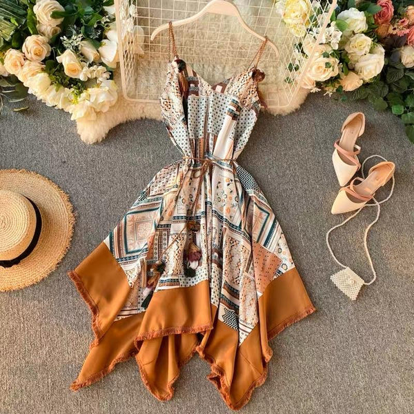 Irregular Boho Tassel Dress - Alamode By Akanksha