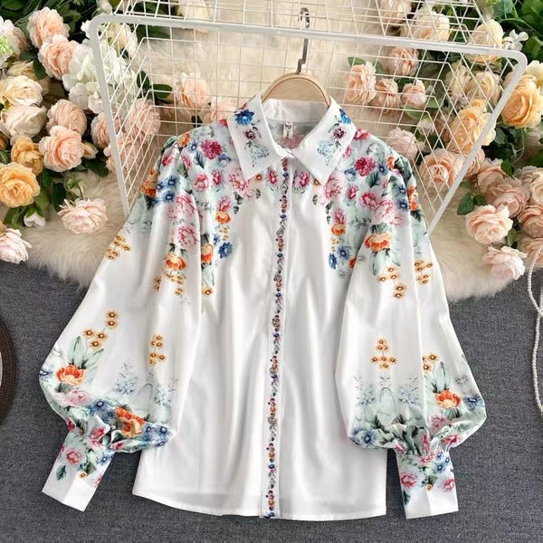 Charlotte Floral Silk Blouse