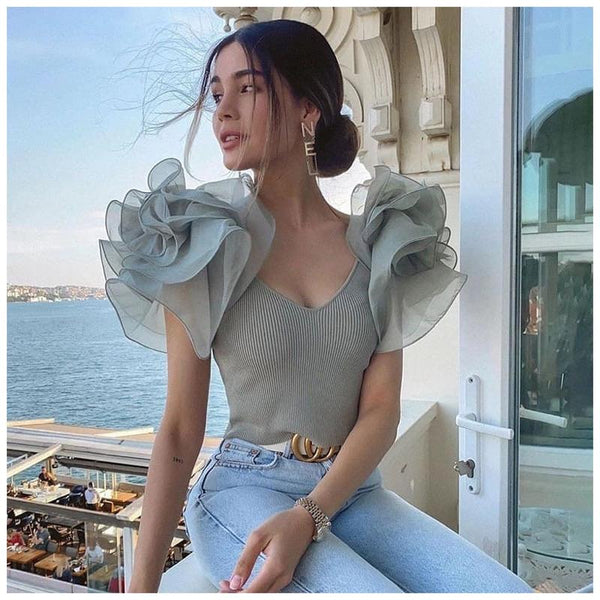 Tesla Ruffled Blouse