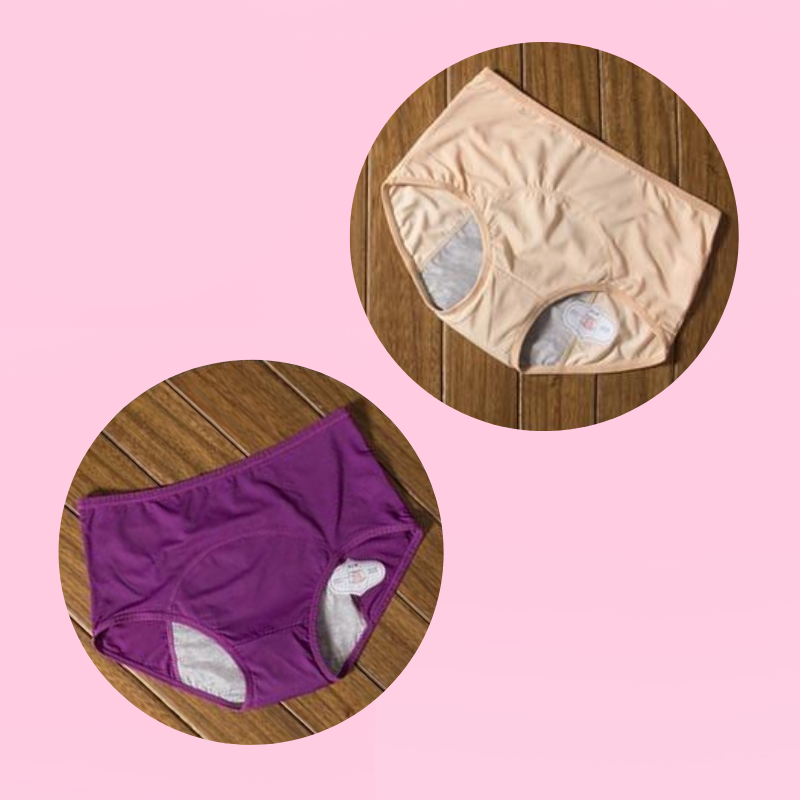 5 Pcs Period Panties Reusable Menstrual Underwear Leak Proof