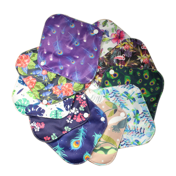 5 pcs Reusable Organic Cotton Sanitary Lua Pads