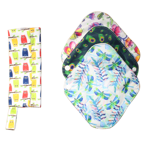3 pcs Reusable Organic Cotton Sanitary Lua Pads