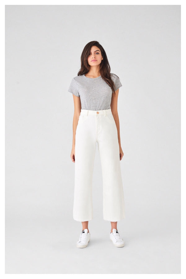 Hepburn Crop High Rise Wide Leg | ivory