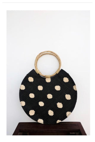 Bello polka dot bag / black cream