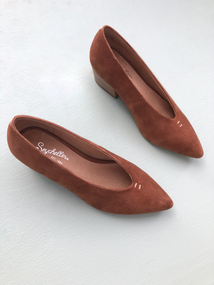 Ravenna Pointy Toe Brown Suede Pump