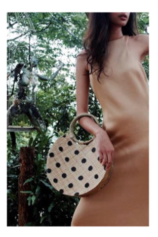 Bello polka dot bag / natural black