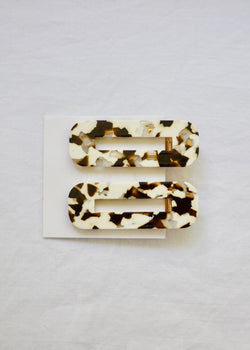 CoCo Cream Tortoise Duo Hair Clip Barrette