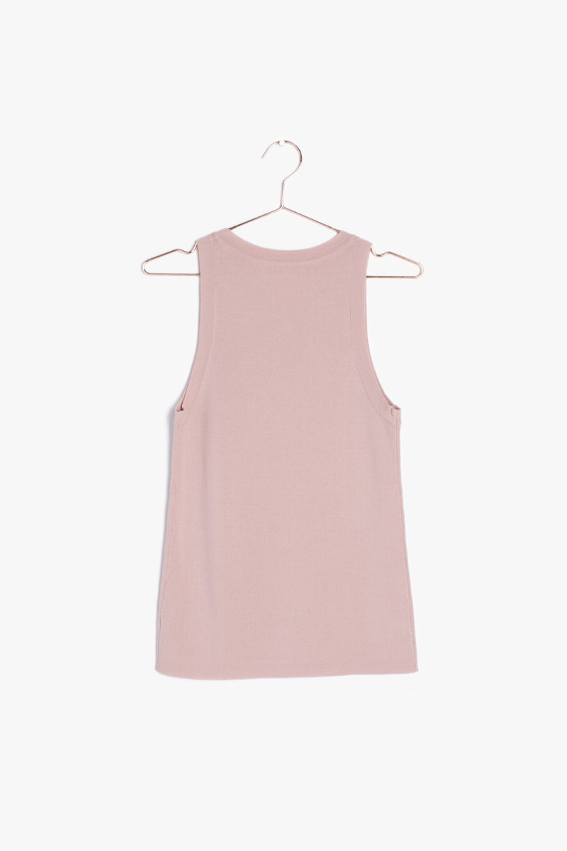 Pink Blush Sleeveless Top | Cora