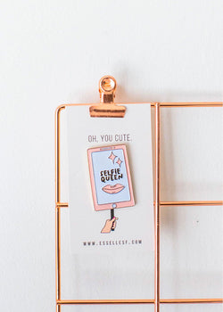 Selfie Queen Enamel Pin