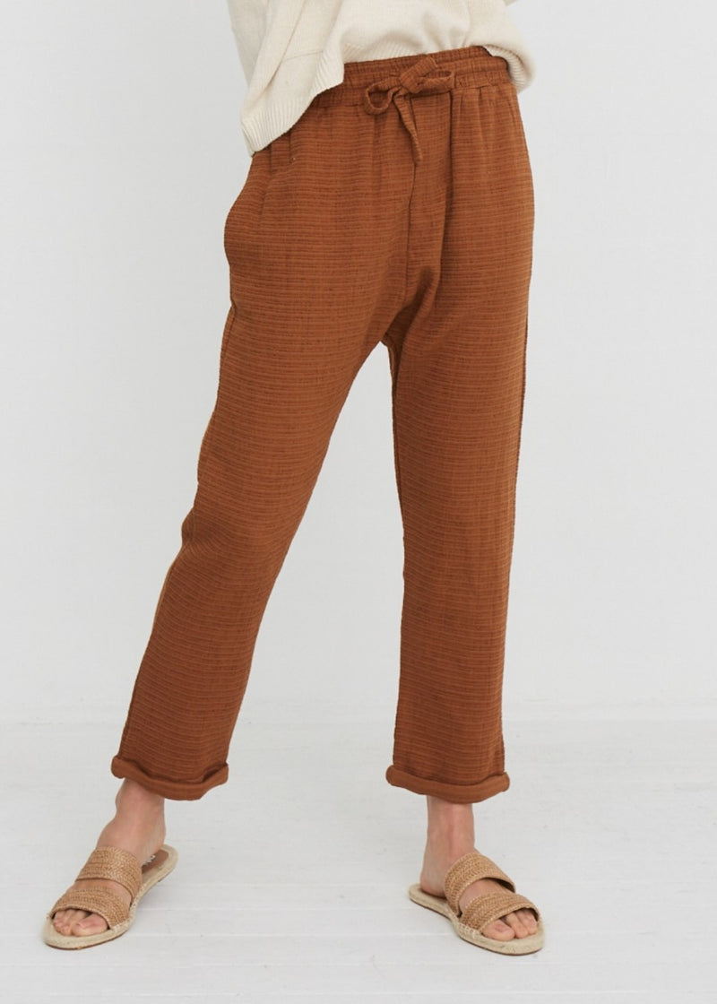 Little Lies Harper Rust Relaxed Pants