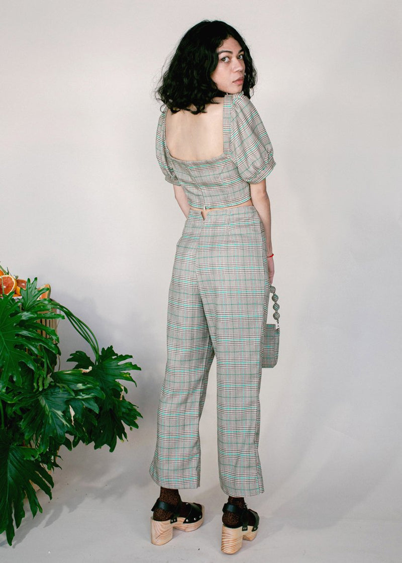 Samantha Pleet Plaid Ballad Pants