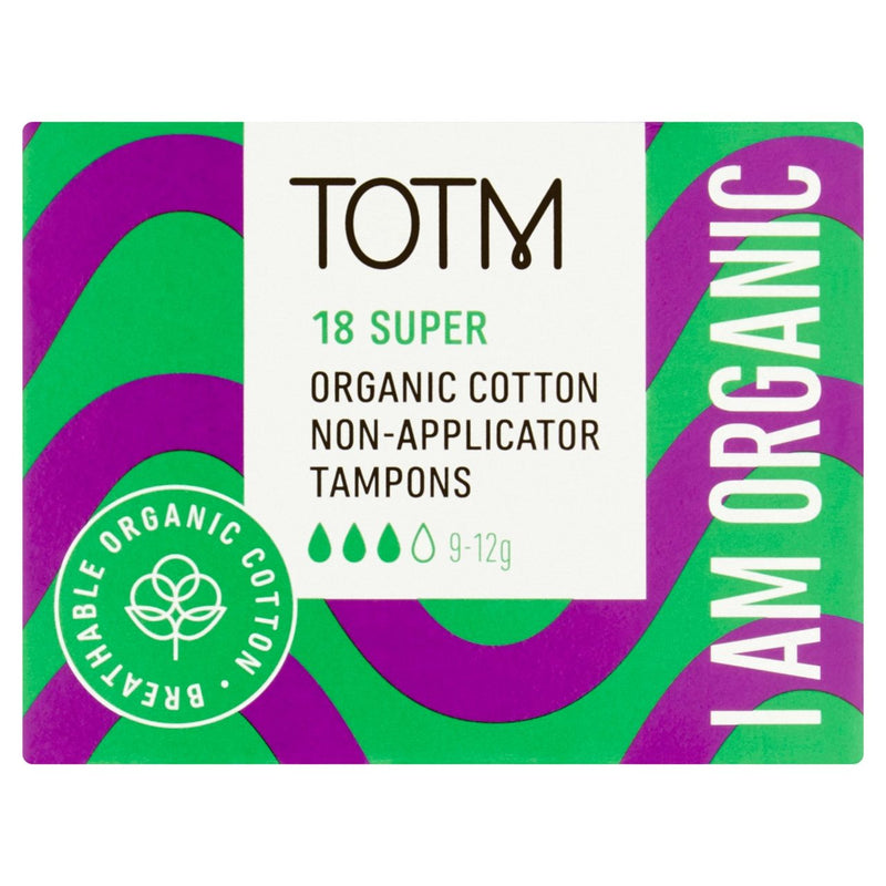 Organic non applicator tampons