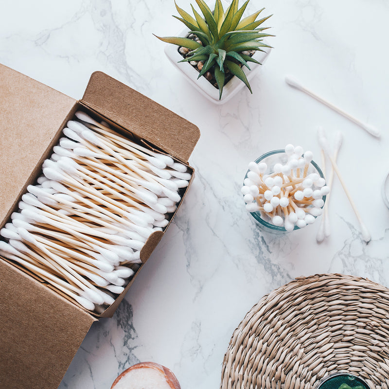 cotton buds made from bamboo