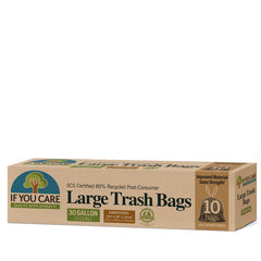 Recycled Large Rubbish Bags - 89% recycled - 30 gallon (113.6 litres)