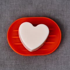 Red soap dish