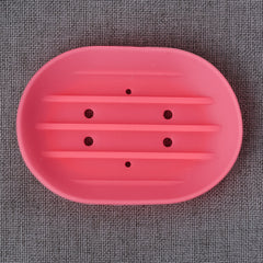 Flexible silicone soap dish
