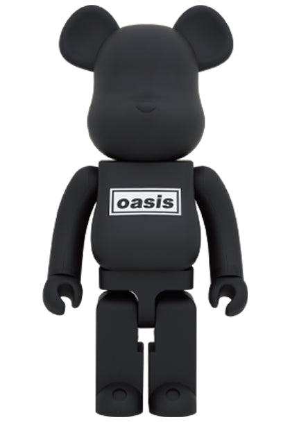 MEDICOM TOY BE@RBRICK OASIS 1000% BLACK RUBBER COATING