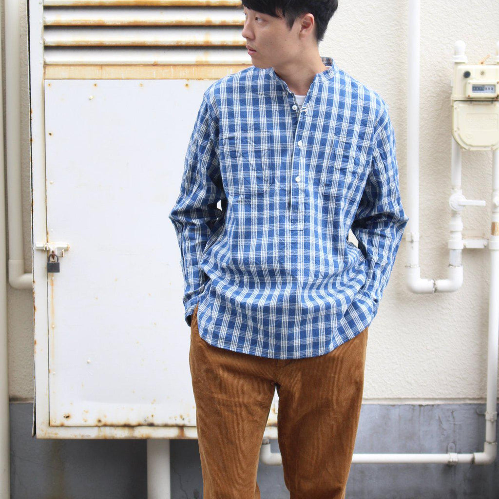 UNION SUPPLY PALAKA CHECK PULLOVER SHIRT - BOROPBY