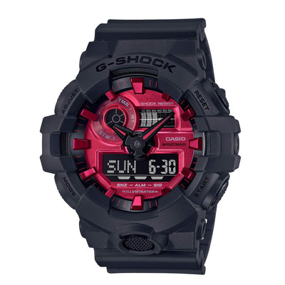 CASIO G-SHOCK Black and Red Series GA-700AR-1AJF