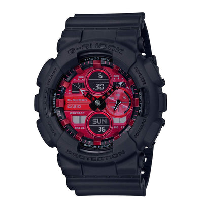 CASIO G-SHOCK Black and Red Series GA-140AR-1AJF
